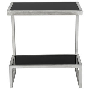 Safavieh Jordan Accent Table, Silver and Black