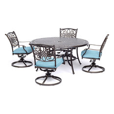 Traditions 5-Piece Dining Set, Four Swivel Rockers