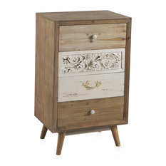 Natural Wooden Chest With 4 Drawers