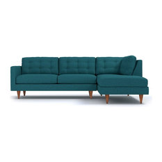 Apt2B - Logan 2-Piece Sectional Sofa Chicago Blue Chaise on Left -  sc 1 st  Houzz : blue velvet sectional sofa - Sectionals, Sofas & Couches