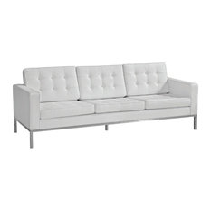 white leather sofa - White Leather Sofa