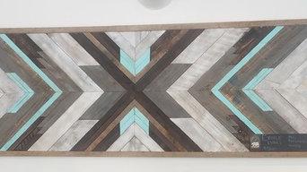 Reclaimed Wooden Art Piece - Bluebird