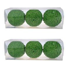 "Set of 6 D4"" Decorative Sphere Ball Green"