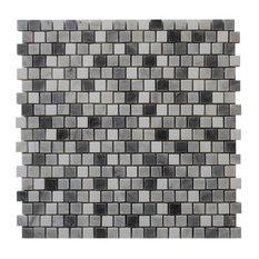 """12""""x12"""" Bardiglio Offset Polished Tile"""