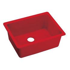 Elkay Quartz Luxe Single Bowl Undermount Sink, Maraschino