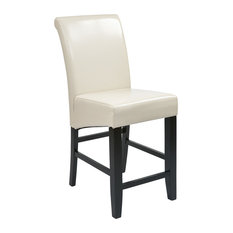 ficestar Osp Designs Parsons Barstool With Cream Bonded Leather Bar Stools