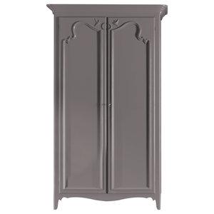 Wardrobe With 2 Hinged Doors, Grey