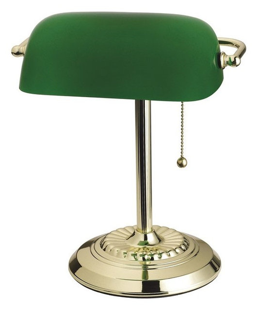 Living Accents Bankers Lamp, Brass