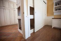 Where do your pets sleep for Timberwood custom kitchens