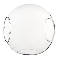 "Glass Terrarium and Candle Holder, 2 Openings, 5.5"", Body D-6"", Set of 6"