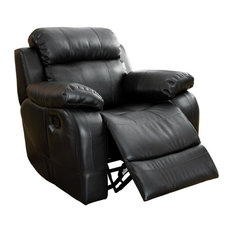Homelegance Marille Rocking Reclining Chair Black Leather