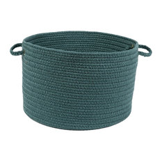 "Rhody Rug Wear Ever Teal Poly 18""X12"" Basket"