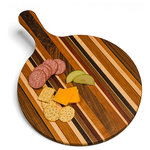Oshkosh Designs - Solid Hardwood Pizza Board / Serving Platter - HANDMADE IN THE USA