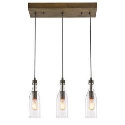Industrial Kitchen Island Lighting by LNC