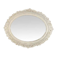 EMDE Ornamental Oval Mirror