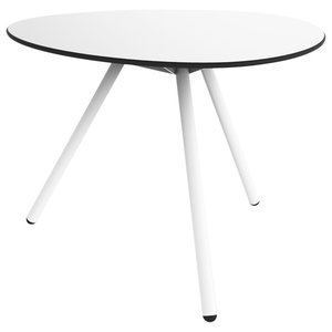 A-Lowha Dining Table, White, White Frame