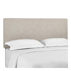 Beige Taylor Twin Upholstered Linen Fabric Headboard
