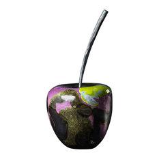 Biancamela Small Ceramic Apple, Purple