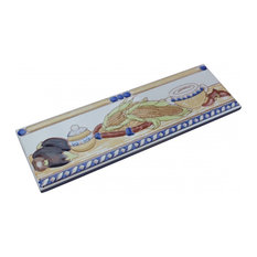 "3"" x 10"" Listello Tile Border Liner Harvest Ceramic"
