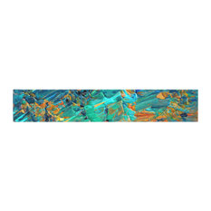 "Ebi Emporium ""Eteranl Tide II"" Teal Orange Table Runner, 16""x90"""