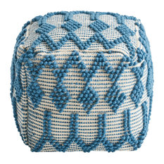 Jonathan Boho Cube Wool and Cotton Pouf