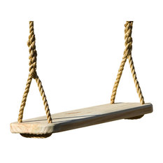 Premier Wood Swing With 18' Rope Per Side, Free Hanging Kit