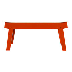 Rform   RForm Pi Bench By Randy Feys, Foxy Orange   Accent And Storage  Benches
