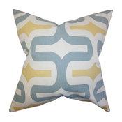 "Jaslene Geometric Pillow Macon 18""x18"""