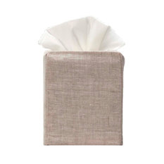 Natural Linen Tissue Box Cover