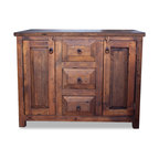 Reclaimed Wood Vanity With 7 Drawers - Rustic - Bathroom Vanities And Sink Consoles - by FoxDen ...