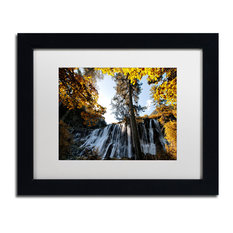 "Philippe Hugonnard 'Waterfalls' Art, Black Frame, White Matte, 14""x11"""