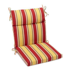 """20""""x42"""" Spun Polyester Outdoor Squared Seat/Back Chair Cushion, Haliwell Multi"""