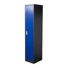 diamond sofa 1 door metal storage locker cabinet with key lock entry blue