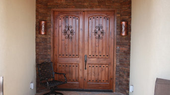 Custom Southwestern Knotty Alder Entry Double Door