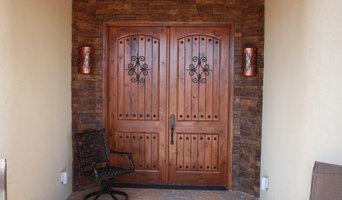 Custom Southwestern Knotty Alder Entry Double Door