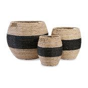 Beautiful and Unique Multi Set of 3 Dorran Woven Basket Home Decor