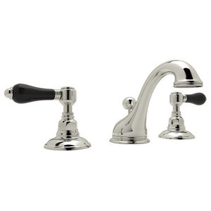 Rohl Viaggio 1.2 GPM Lavatory Faucet with 2 Lever Handles, Polished Nickel
