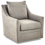 Avenue 405 - Avenue 405 Renee Swivel Chair, Dove - Are you ready to bring calm to any space? The Renee Swivel Chair has a slipcover feel that really moves. It can be mixed into nurseries, playrooms, dens, or living rooms with ease. And, it quickly adds an extra touch of sophistication and comfort with its welted look and defining track armrests. Its stunning and lightweight design is backed up with expert craftsmanship and quality construction that's covered by a lifetime limited frame warranty. The chair is made in the USA of domestic and imported materials.