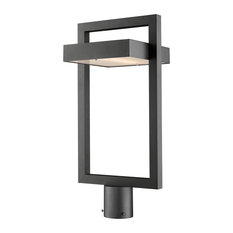 Luttrel Collection 1 Light Outdoor Post Mount Fixture in Black Finish