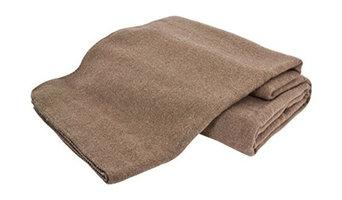 Creswick Hobart Australian Wool/Polyester Blanket, Hazel, Twin