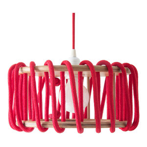Macaron Pendant Lamp, Red, Small