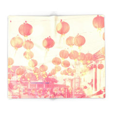 """Chinatown. Los Angeles Photograph Blanket, 88""""x104"""""""