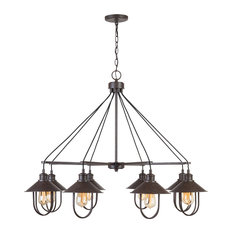 Pawley 8 Light Chandelier in Mineral Brown