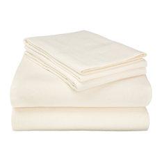 Extra-Warm Cotton Flannel Sheet Set - Queen, Ivory