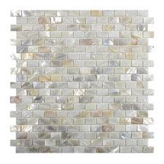 Cream Brick Pearl Shell Tile, Sample