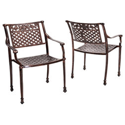 Traditional Outdoor Dining Chairs by GDFStudio