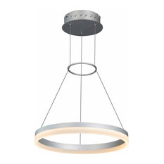 Tania LED Chandelier With Adjustable Suspension, Silver
