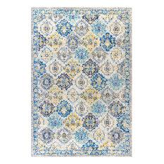 Modern Persian Boho Vintage Trellis Blue/Multi 8' x 10' Area Rug