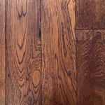 """Hurst Hardwoods - White Oak Prefinished Solid Wood Floor, Eagle Valley, 1 BOX - This listing is for 1 box (20.93 square feet) of of our popular White Oak Eagle Valley Prefinished Solid Wood Floor. This solid wood floor comes with FREE STANDARD SHIPPING to anywhere in the continental USA! Smoke River displays mid-brown & red color tones and brushed textures that are perfect for a wide range of popular interior decor styles. Available in 3 1/2"""" wide x 3/4"""" thick planks constructed in random 12"""" to 48"""" lengths and with micro beveled edges/ends, this durable hardwood floor is a great option for homes of all activity levels. This White Oak hardwood floor is finished with a matte Aluminum Oxide, making it highly scratch resistant as well. With a 4-sided tongue & groove milling profile, installation easy is easy via nail/staple down. A great option for homes with radiant heating systems, too! Please note that these planks are 3 1/2"""" in width, not 3 1/4""""."""