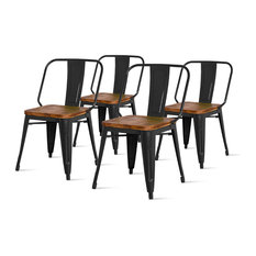 Brian Side Chairs, Set of 4, Black